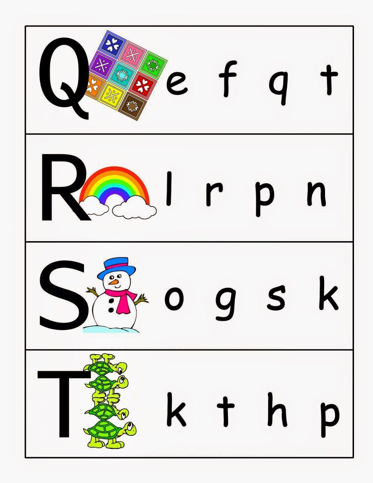 Kindergarten Worksheets Matching Letters Free Preschool