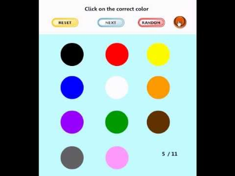 learning game for kids find the color