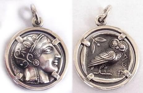 773 athens tetradrachm athena owl of wisdom exquisite coin athena greek goddess coin pendant joyera griego joyas de plata antigua colgante de mozeypictures Choice Image