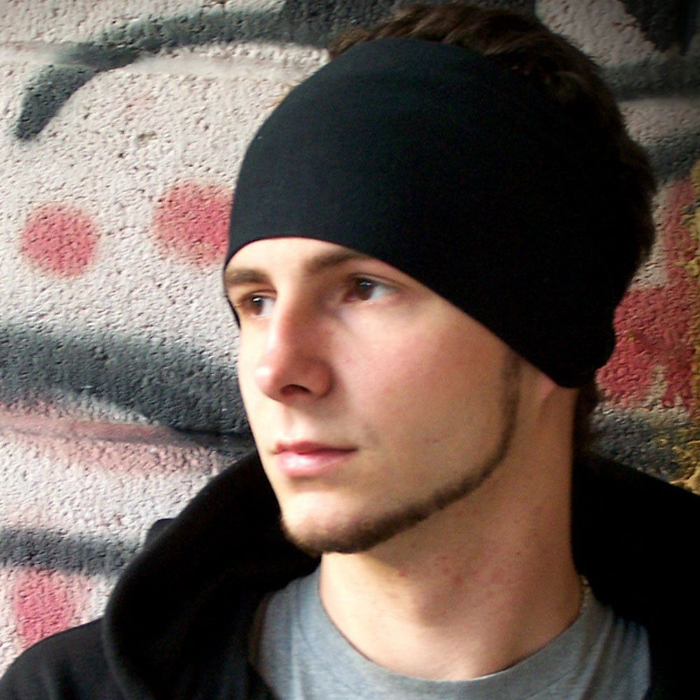 474e7d6cc51b Black Sports Wrap Headband