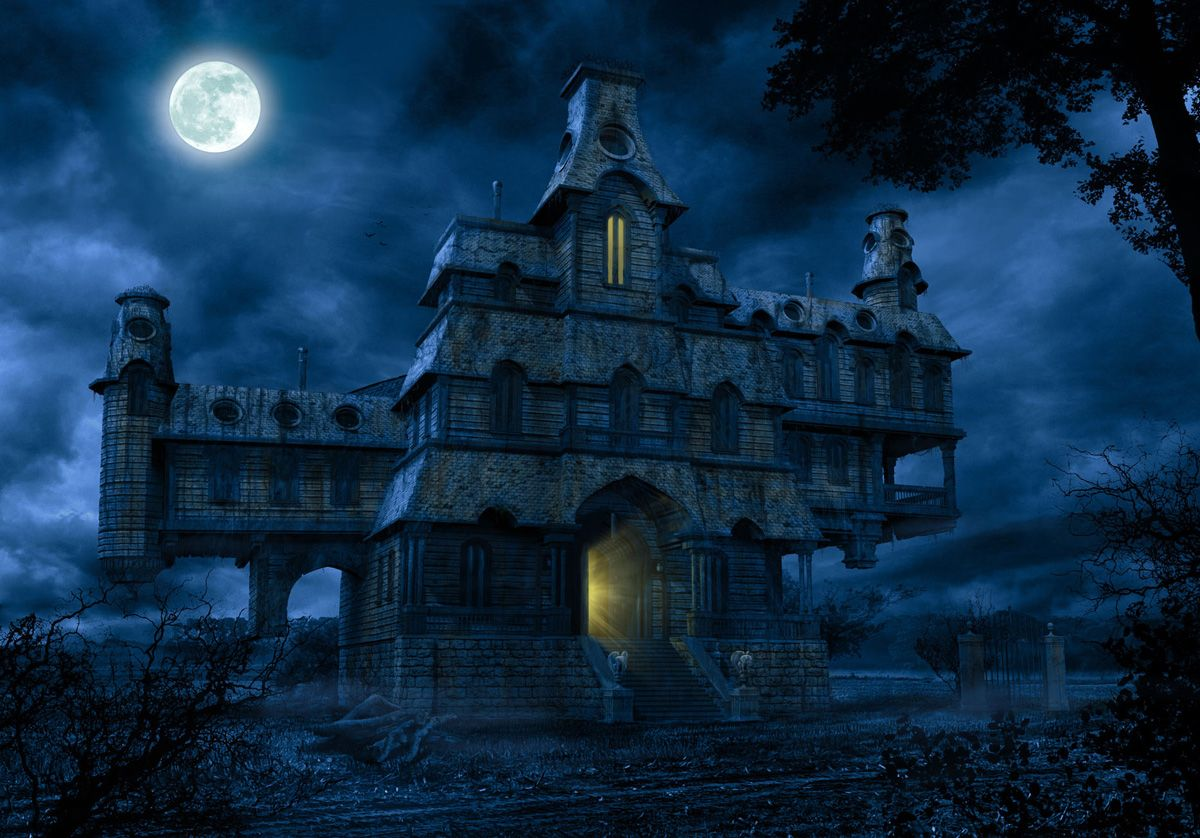 Haunted house image for beware for a scare with this for Pinterest haunted house