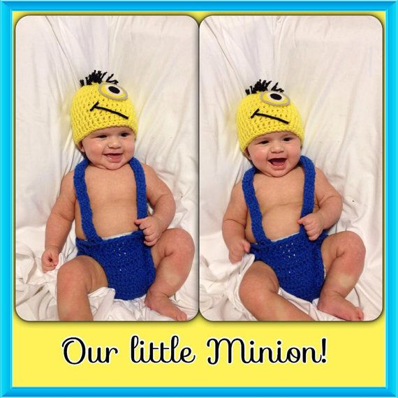 Check out this item in my Etsy shop https://www.etsy.com/listing/211584054/crochet-minion-diaper-set