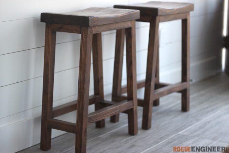 Church pew diy bar stools bar stools counter height