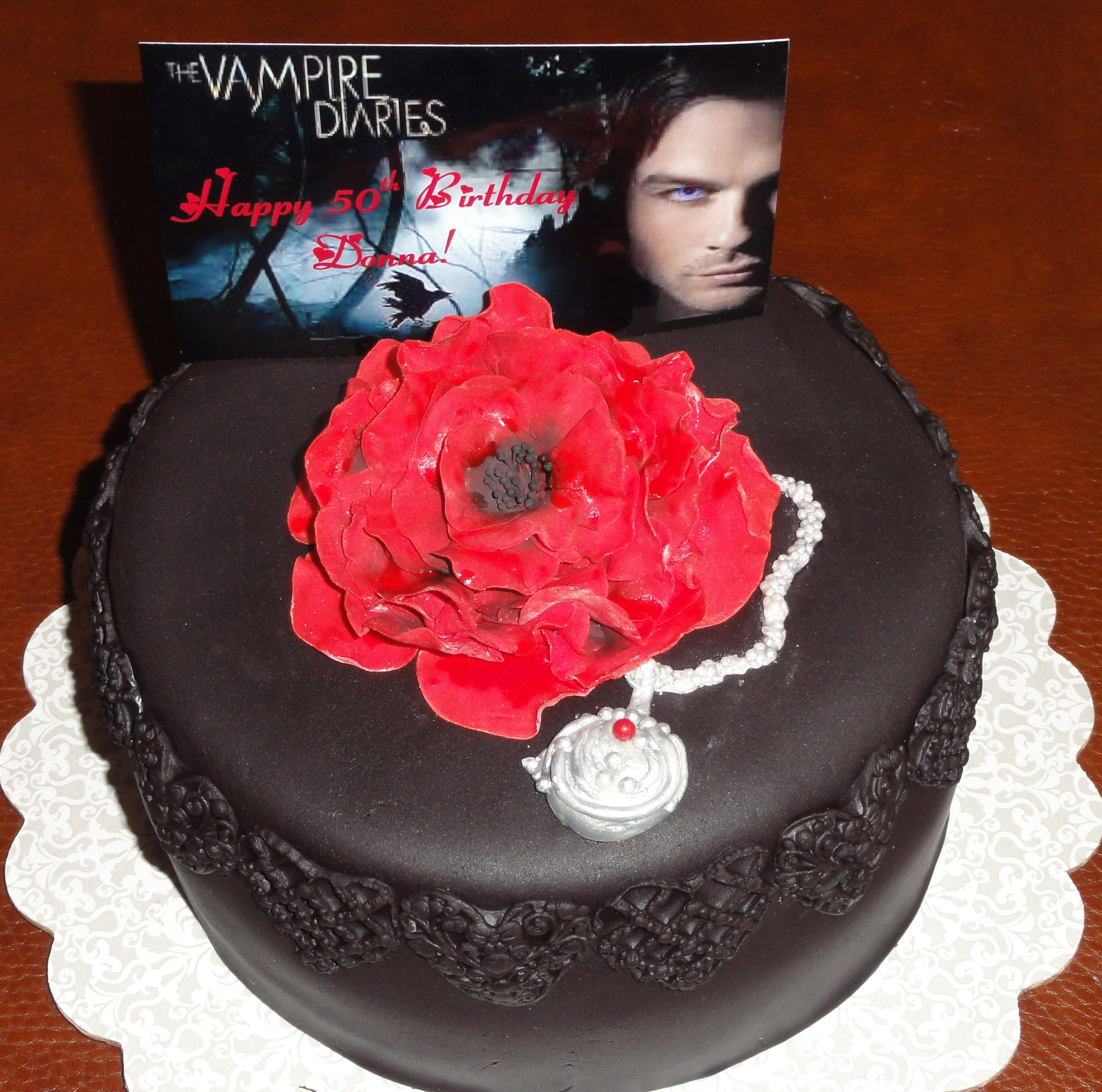 Google themes vampire diaries - Vampire Diaries Themed Birthday Cake