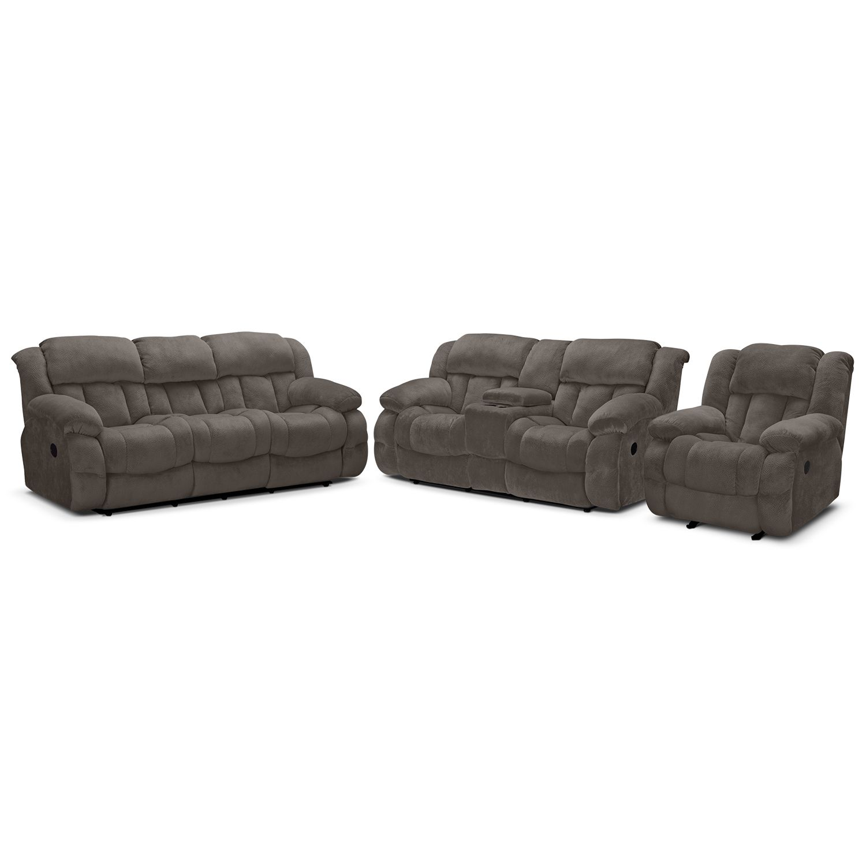 Park City Dual Reclining Loveseat - Gray | Value City Furniture | My ...