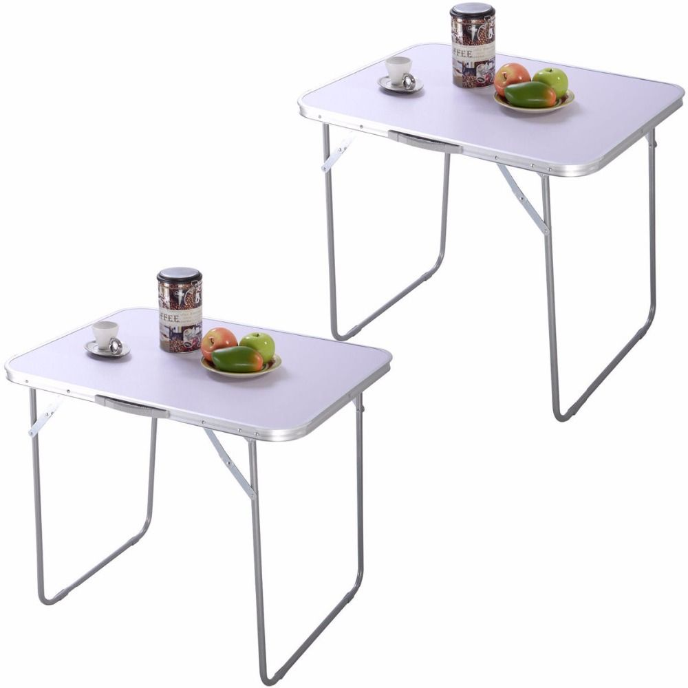 2pc Portable Folding Table In Outdoor Picnic Party Dining Camping Desk 2 Hw50748 Folding Table Table Outdoor Folding Table