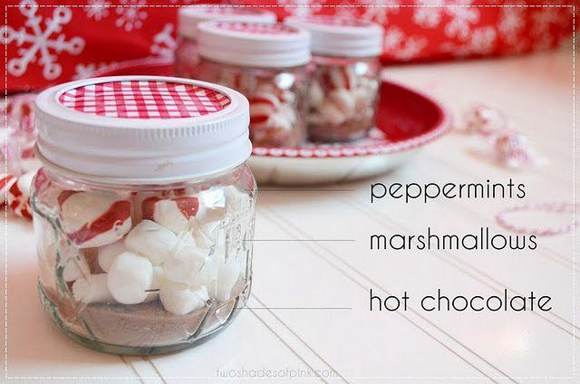 Hot Chocolate Kit Cute Easy And Involves Thrift Store Shopping Yay Hot Chocolate In A Jar Mini Mason Jars Small Mason Jars
