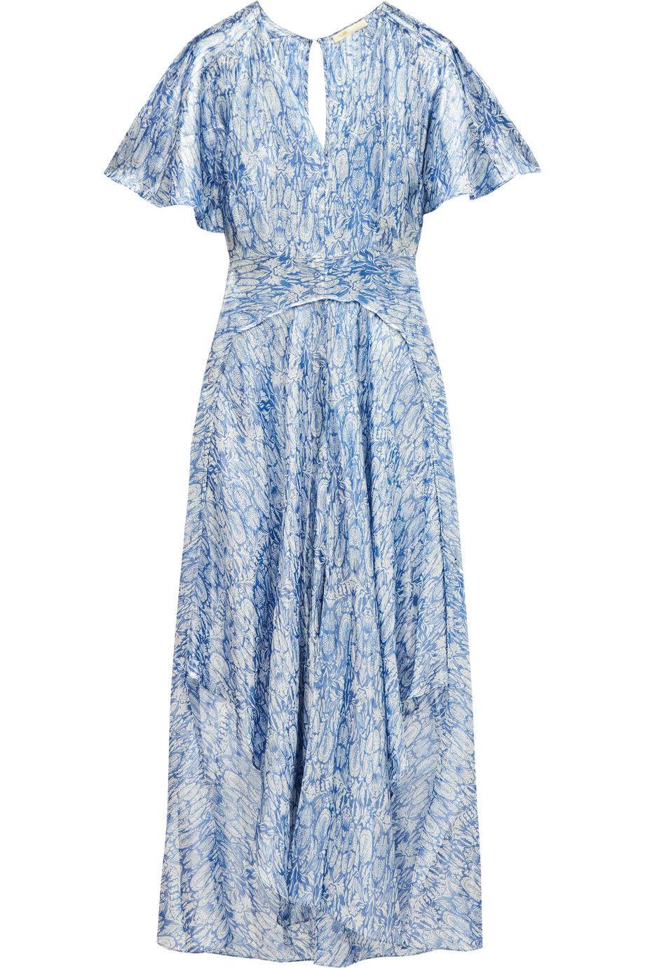 Maje Metallic Printed Dress