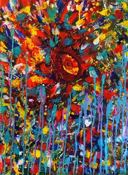 Buy Eye of The AmazonPalette Knife, Acrylic painting by