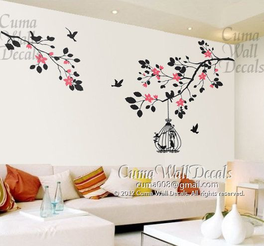 Tree Wall Art wall decal tree whildren wall decals nursery wall artcuma