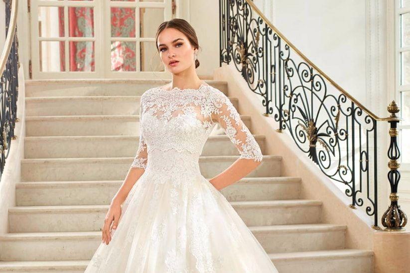 por qué elegir un vestido de novia manga tres cuartos? | vestidos de