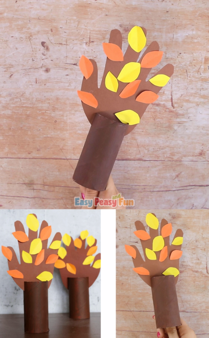 Fall Handprint Tree #preschoolers