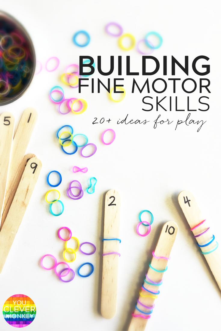 20 Simple Hands On Activities That Help Build Fine Motor Skills With Fine Motor Skills Goi Motor Skills Activities Preschool Fine Motor Preschool Activities