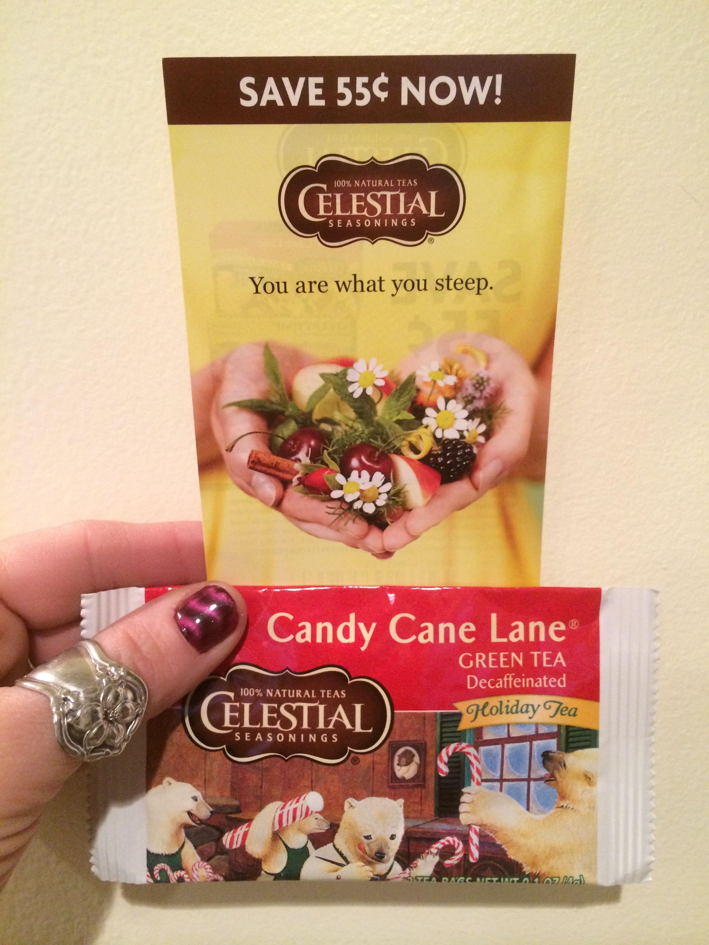Celestial Seasonings Candy Cane Lane Decaf Green Tea is