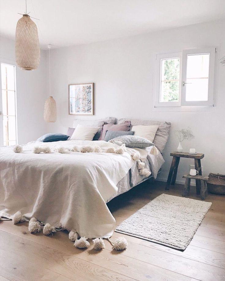 Pendelleuchte Jill aus Bambus Schlafzimmer