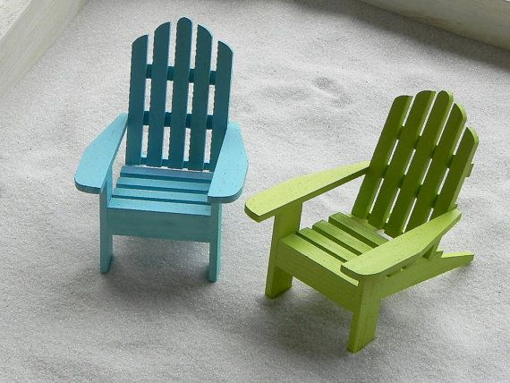 ONE Miniature Adirondack Chair Beach Diorama By TheLittleHedgerow