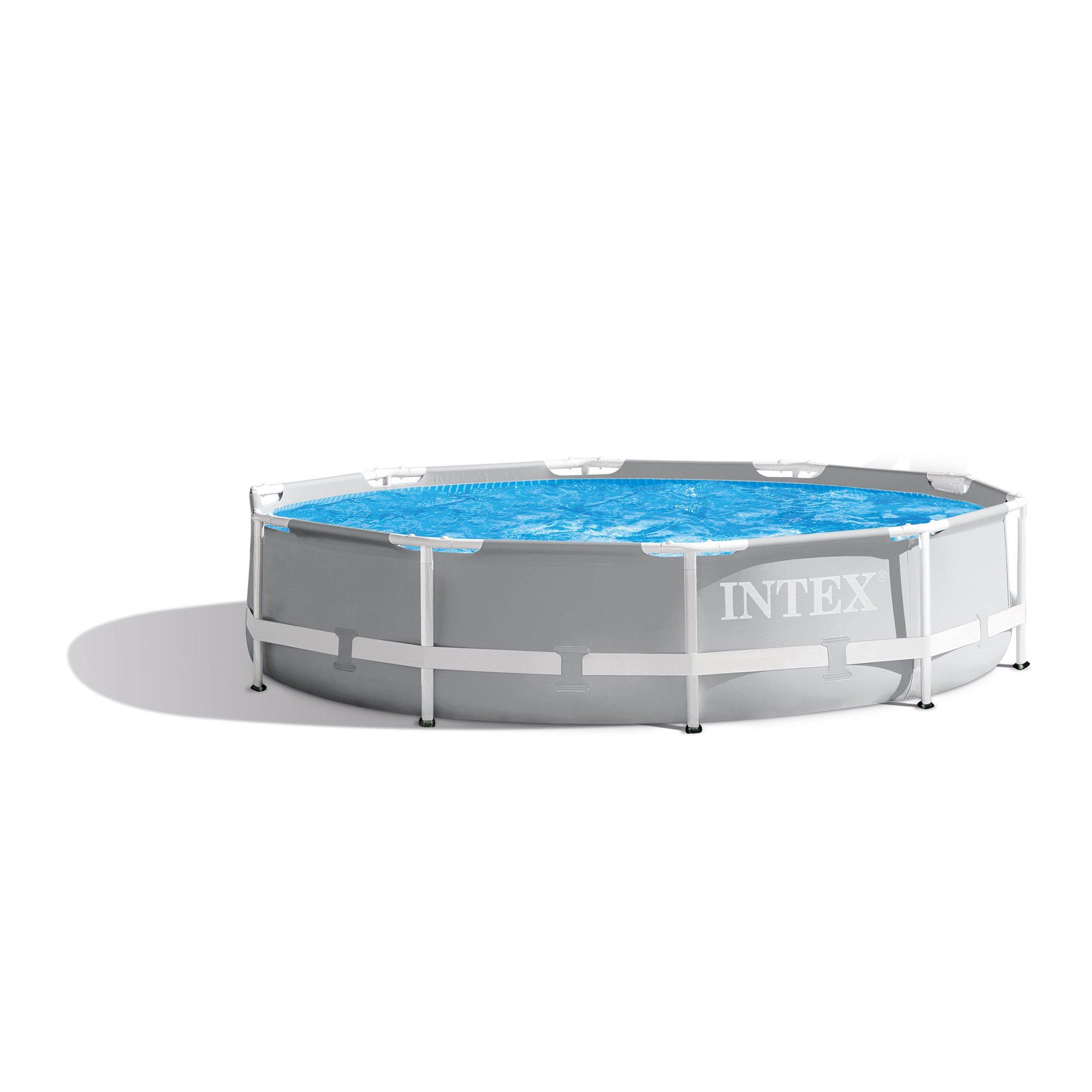 Intex 10 X 30 Prism Frame Large Metal Above Ground Round Outdoor Swimming Pool Swimming Pools Backyard Swimming Pools Above Ground Swimming Pools