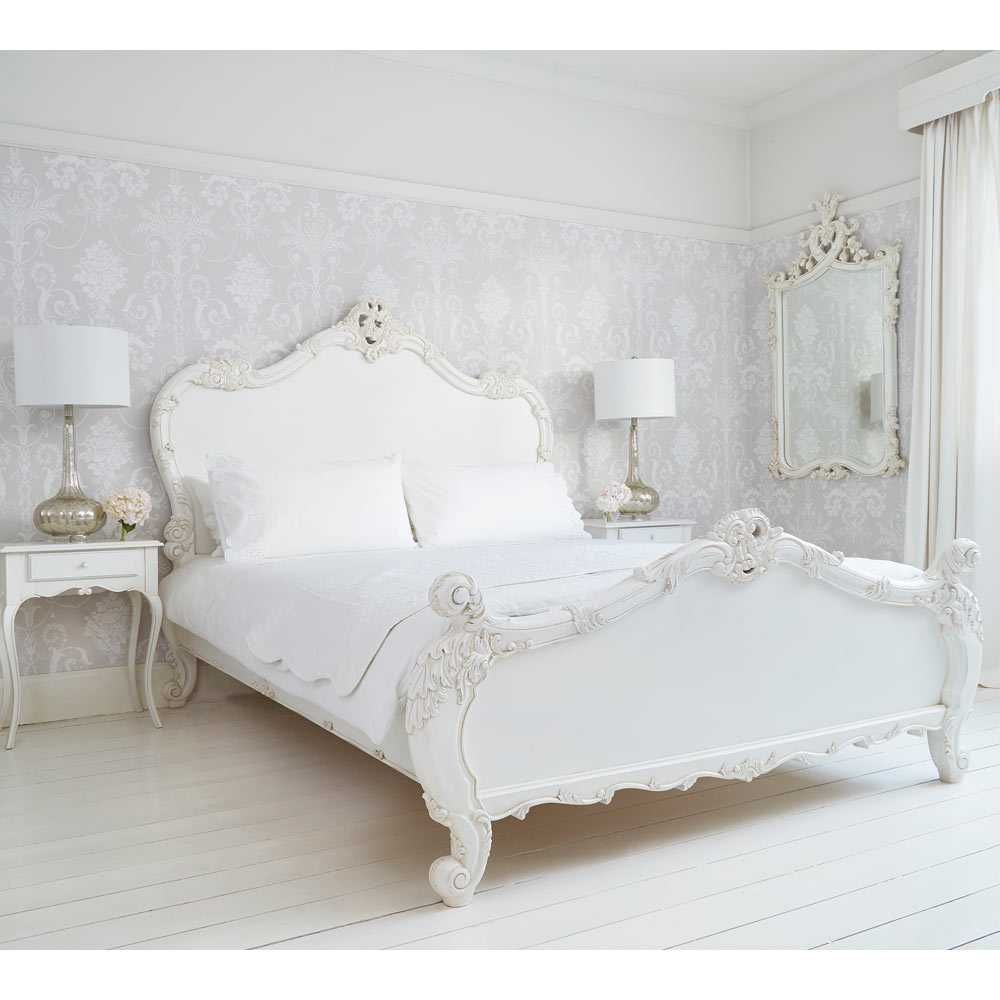 Best Provencal Heart Top White Mirror Luxury Mirror French Bed French Country Bedrooms Luxury 400 x 300