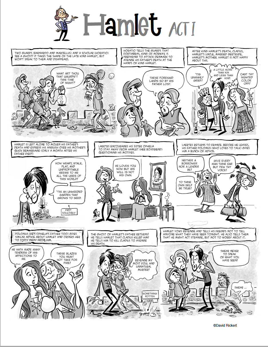 Hamlet Comic And Activitie Teaching Shakespeare Lesson Essay Short Summary Of