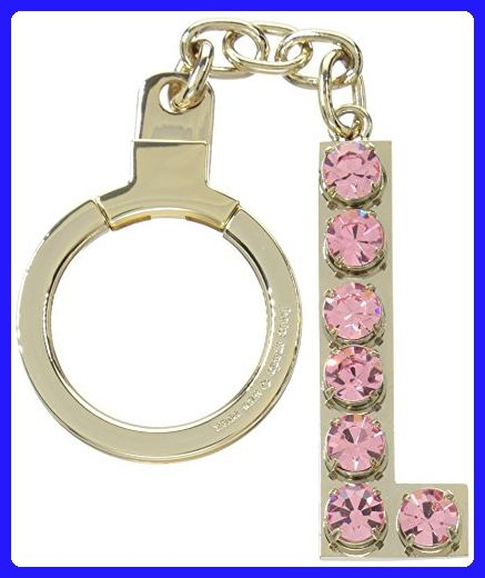 kate spade new york Kate Spade Key Fobs Jeweled L Initial