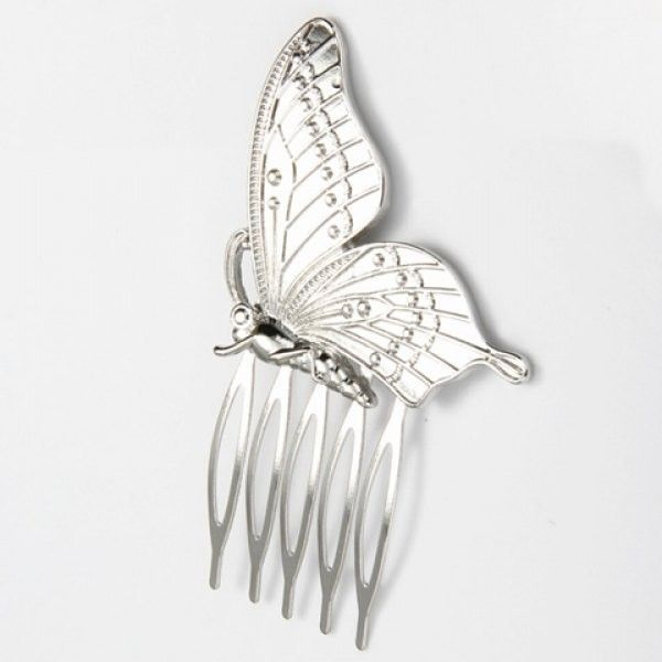 Trendy Solid Color Butterfly Hair Comb For Women (35.160 IDR) ❤ liked on Polyvore featuring hair combs, butterfly hair comb, butterfly hair accessories, butterfly comb and hair combs accessories