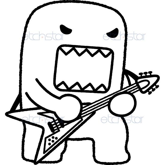 nice domo coloring pages pictures