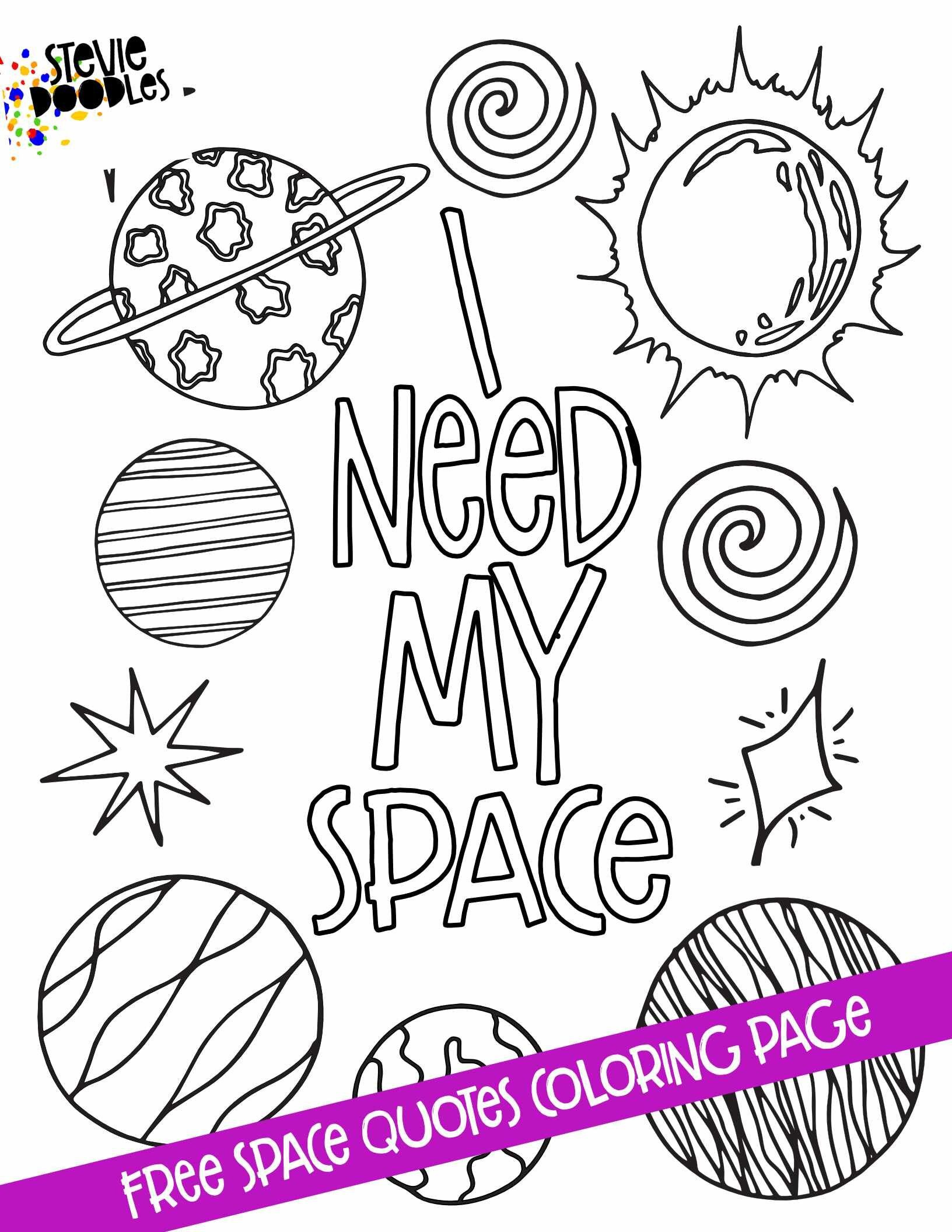 Space Quotes 5 Free Printable Coloring Pages Stevie Doodles Space Coloring Pages Coloring Pages Planet Coloring Pages [ 2112 x 1632 Pixel ]