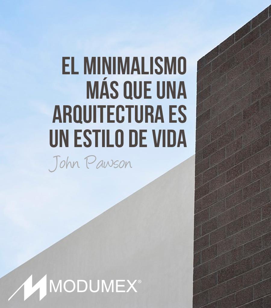 """#Quotes #Frases """"El minimalismo más que una #arquitectura es un estilo de vida."""" John Pawson"""