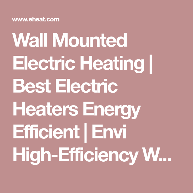 Envi HighEfficiency Whole Room PlugIn Electric Panel Heater