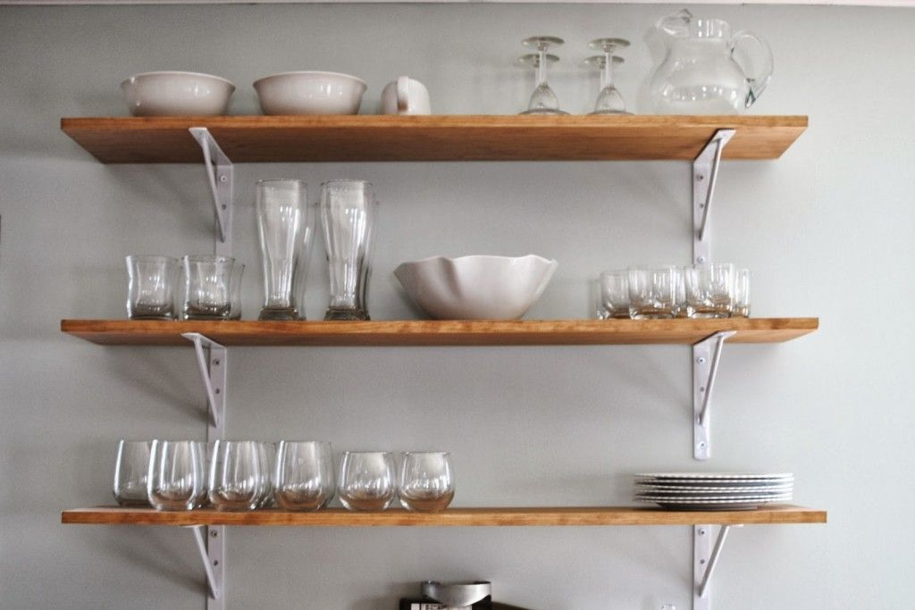Stylish Wall Mounted Kitchen Shelves