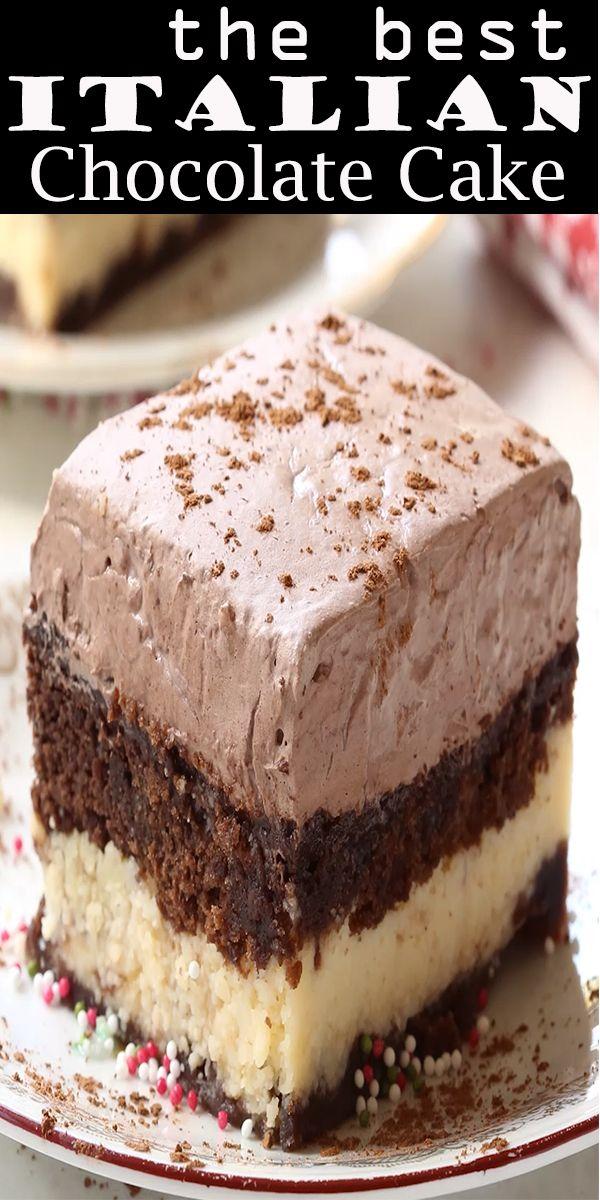 Italian Chocolate Cake Italian Chocolate Dessert Recipes Cake Recipes