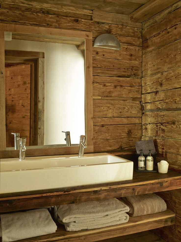 Salle de bain chalet home salle de bains chalet - Deco salle de bain bois ...