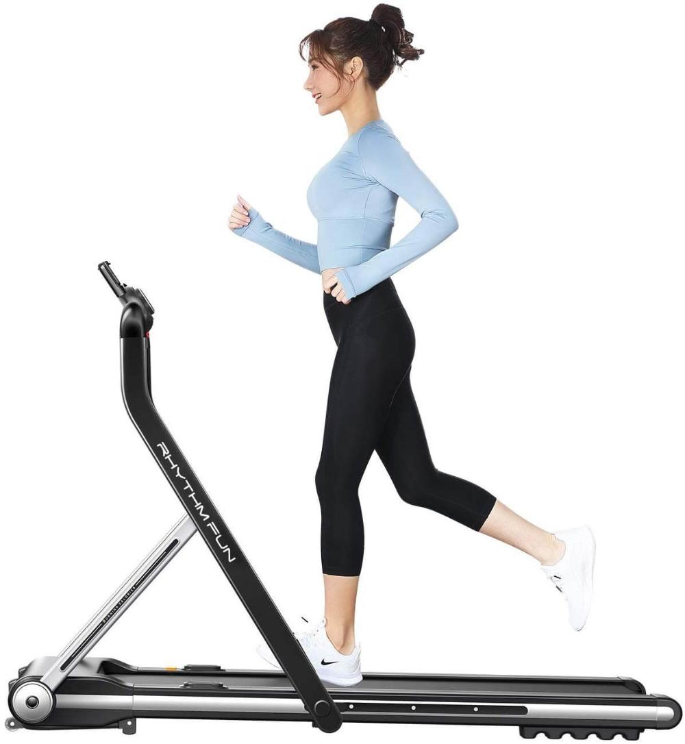 RHYTHM FUN Slim Treadmill With Foldable Handles in 2020
