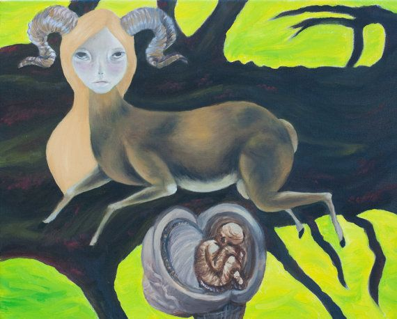Leaping Deer by RosaCozzoniArt on Etsy, $15.00