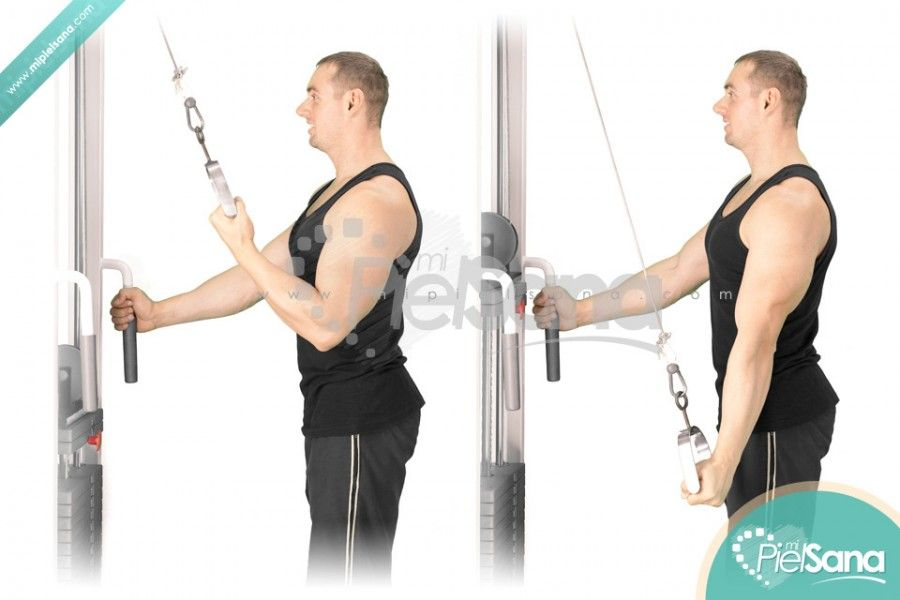 Reverse One Arm Cable Tricep Extension | Triceps