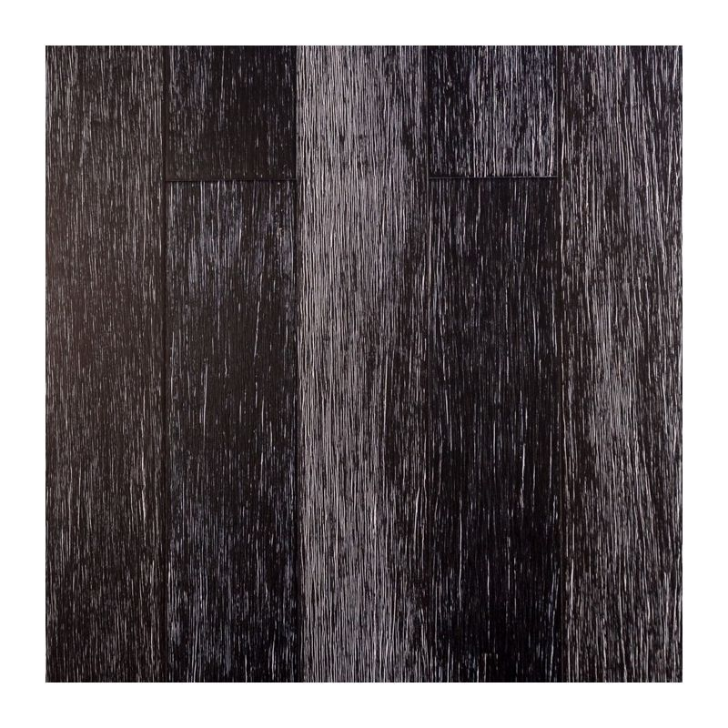 Parquet Massif Bambou Haute Pression Verni Mat Black White Clipsable Compatible Pieces Humides Larg 12 5 Cm 1 37 Metre Carre Bambou Massif Clipsable Hp Black White