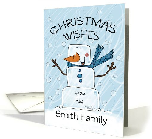 Customizable Name Christmas From The Smith Family, Ice