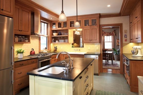 Kendall stem pendant arts and crafts lighting for kitchen ...