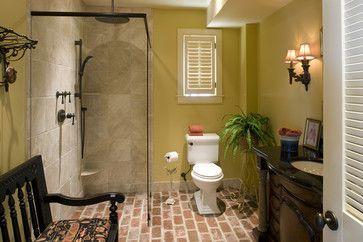 Brick Floor Bathroom Design Ideas Pictures Remodel And Decor