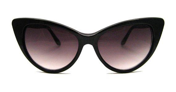 1619ed388d Kourtney Kardashian s Vintage Black Cat Eye Sunglasses