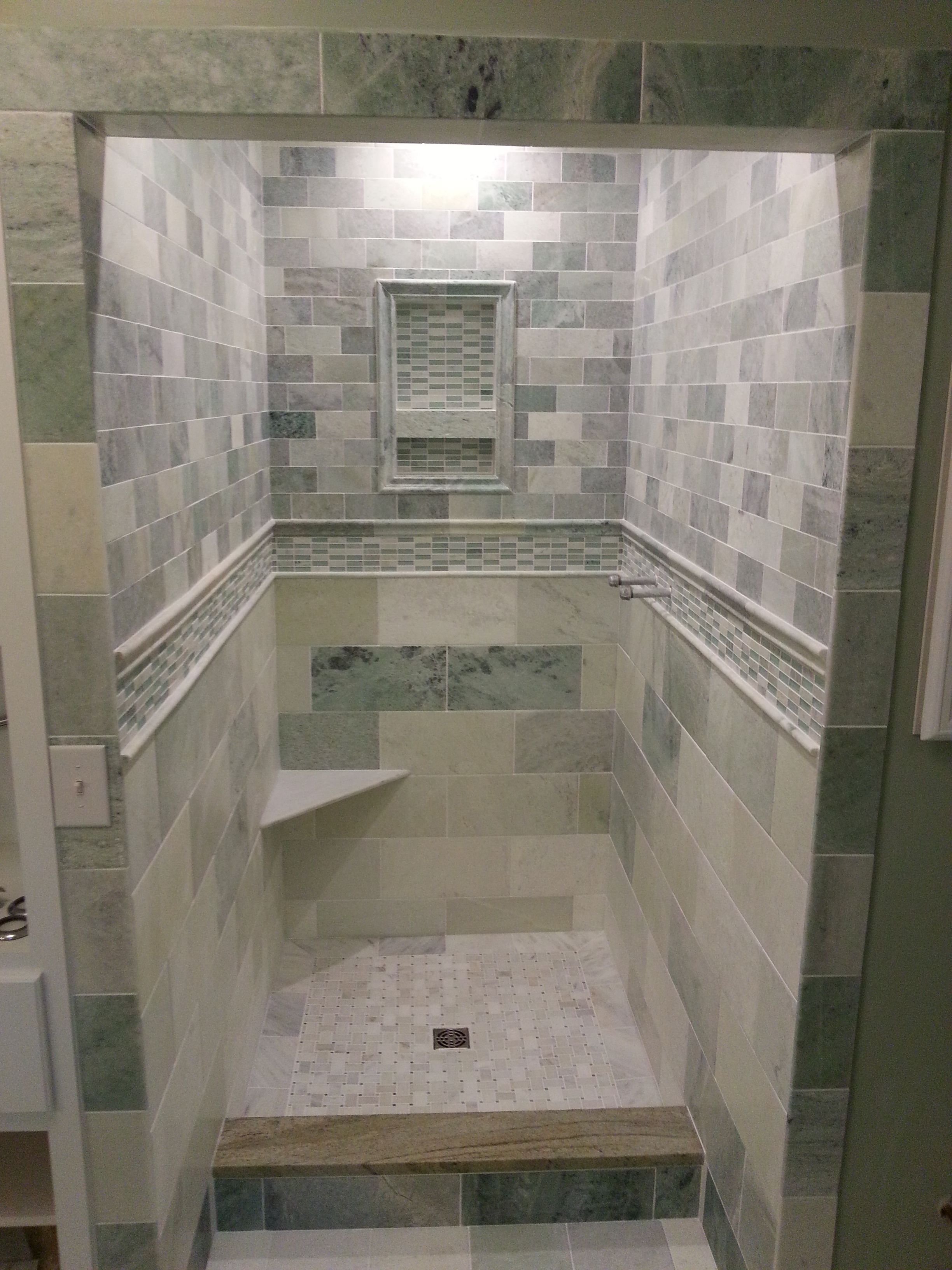 Biltmore Marble Shower Bluegrass Flooring Pinterest