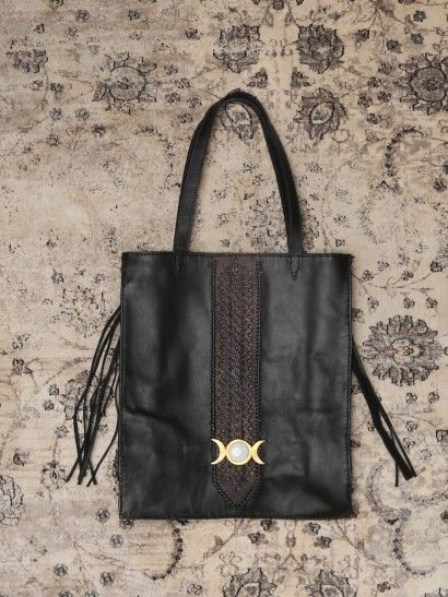 Moon Child Leather Tote Bag - Gypsy Warrior