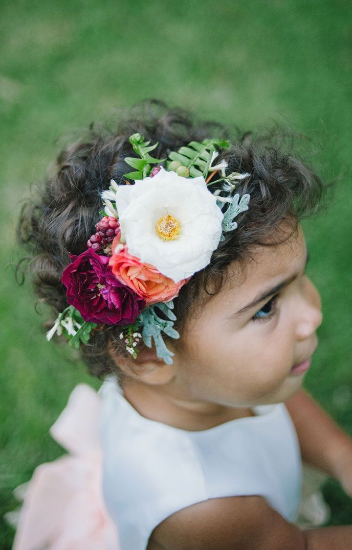 33 of the Prettiest Fresh Floral Headpieces for Flower Girls ~ we ...