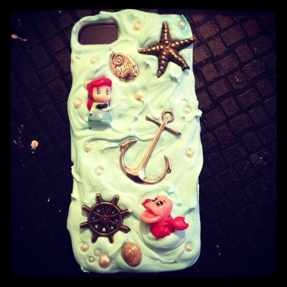 half off 0ea4b bb078 Disney the little mermaid handmade decoden iphone5 case, loving me ...