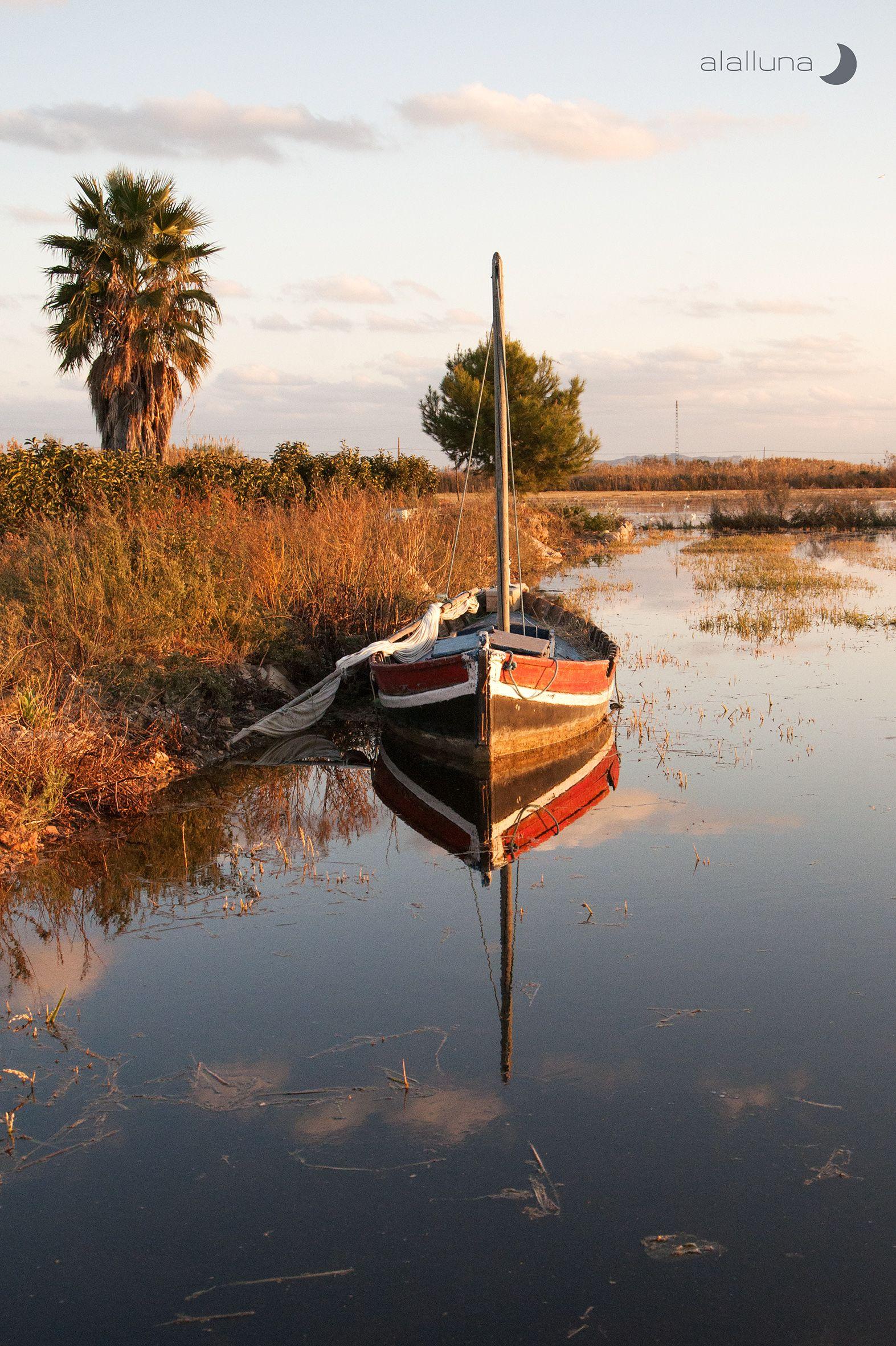 Albufera Barca Barcos Abandonados Barcos Veleros Barcos