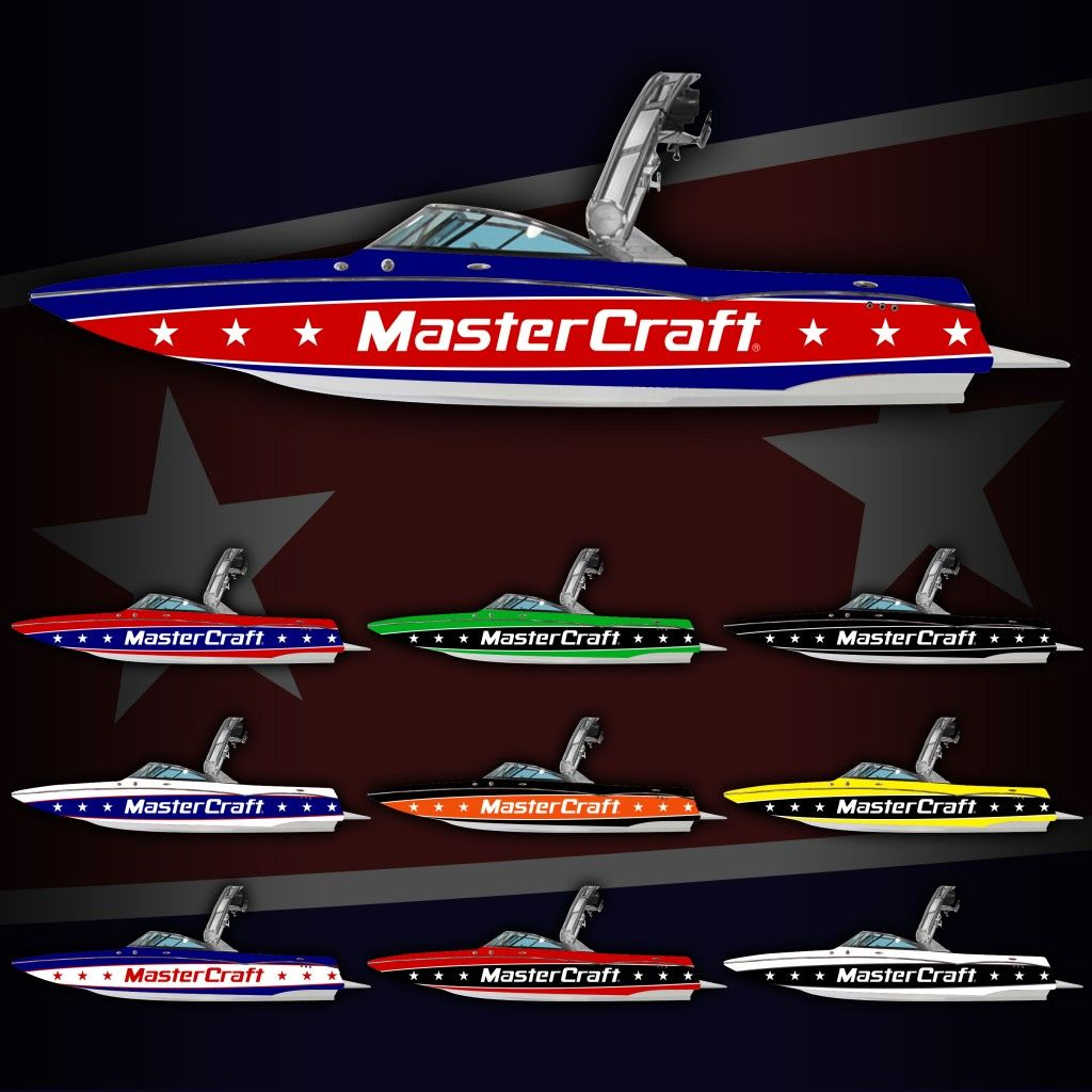 Mastercraft stars and stripes boat wrap