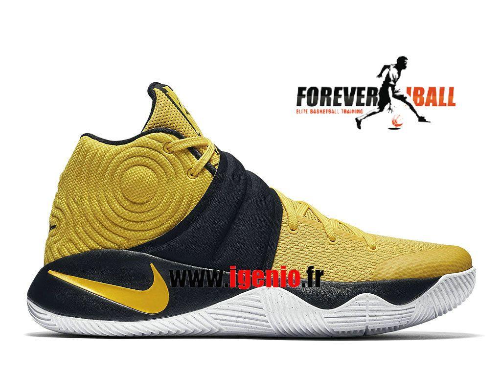 Nike Kyrie 2 Australia - Chaussures de BasketBall Pas Cher Homme  Jaune/Noir/Blanc