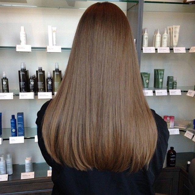 blunt cut on long hair :: RedBloom Salon