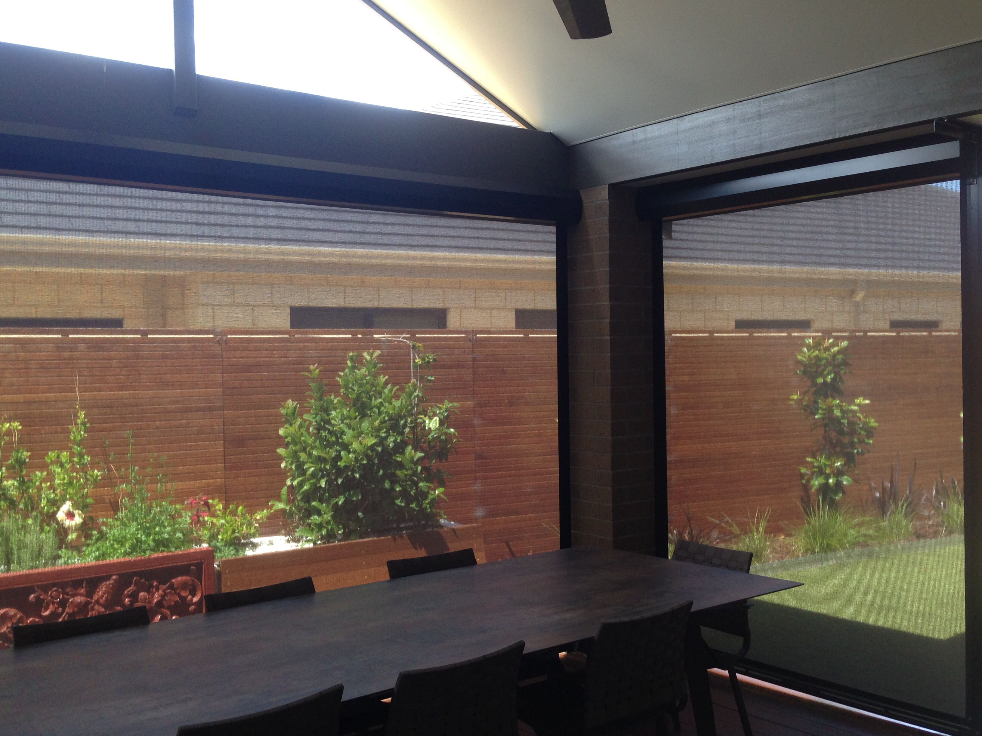 use your entertaining area all year round with alpha awnings