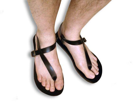 7f7efc81cd23 Leather Handmade Sandals Men and Women Minimalist Flip por LeatherD ...